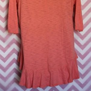 Umgee Tops - UMGEE Pretty Coral Lace Hem Tunic Size M